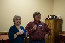 Mrs. Bowser and board member Richard Foust enjoying the scene.