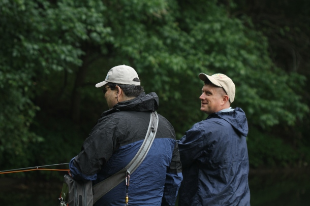 A guide and vet sight fishing to some lunkers on a recent PHWFF MTU event.